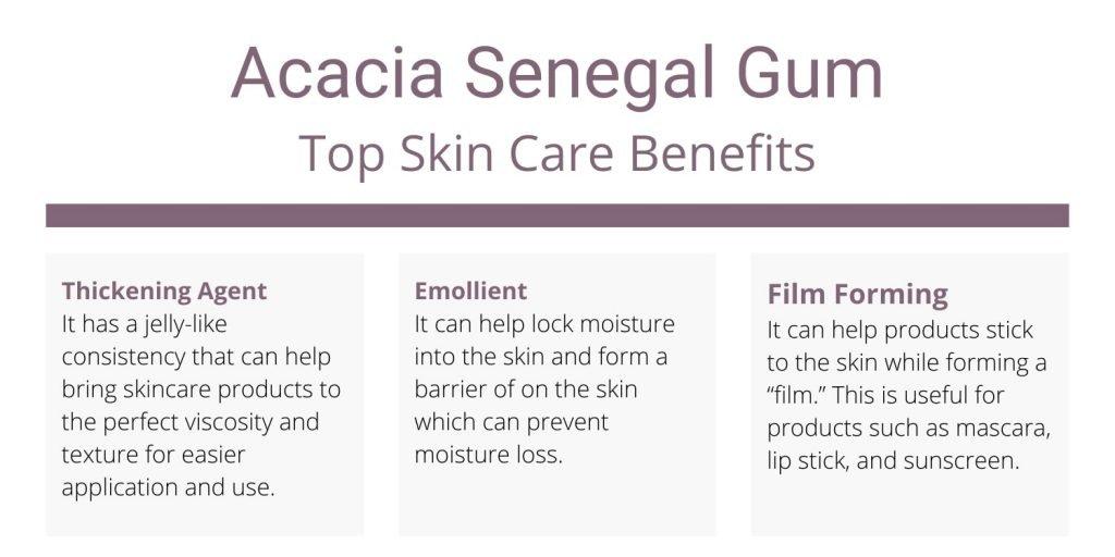 Acacia Senegal Gum benefits for skin