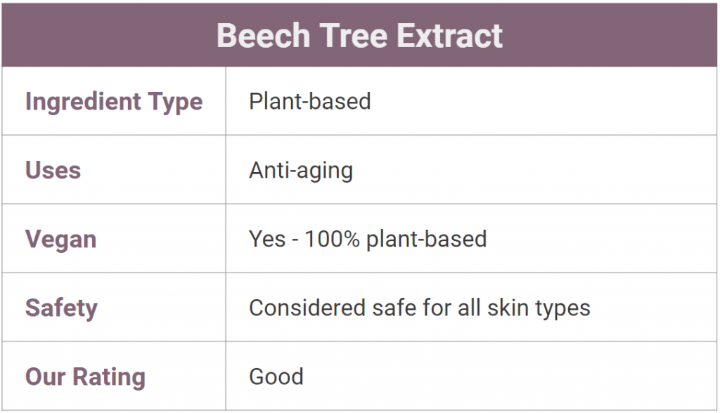 beech tree extract for skin - what is it?