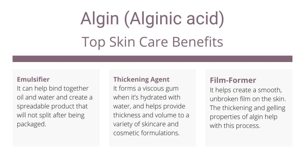 Algin skin care uses and benefits