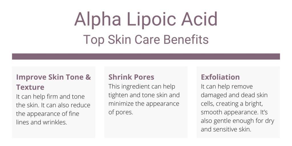 Alpha Lipoic Acid Skin Care Benefits
