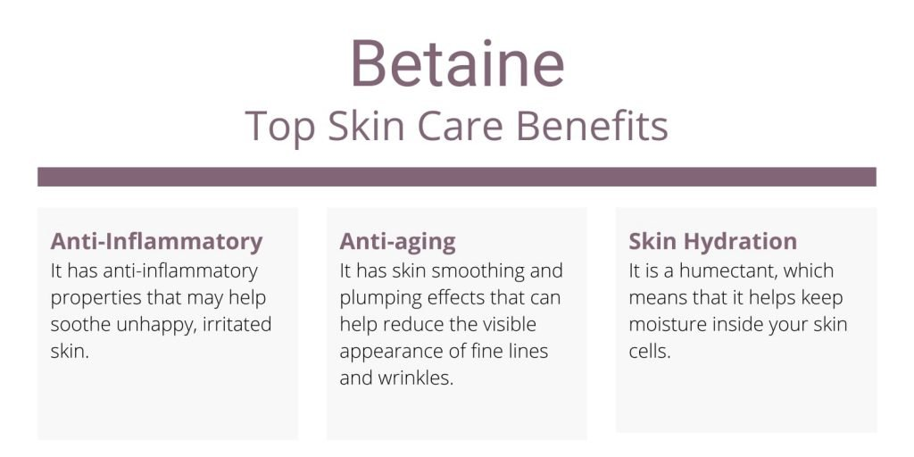 Betaine top skin care benefits and uses