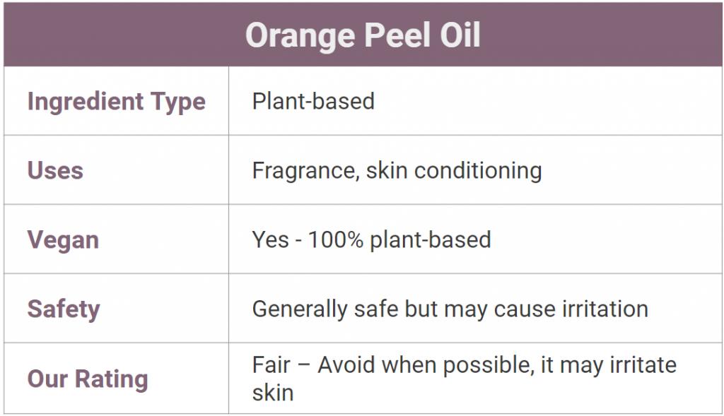 orange peel oil for skin - is it safe?