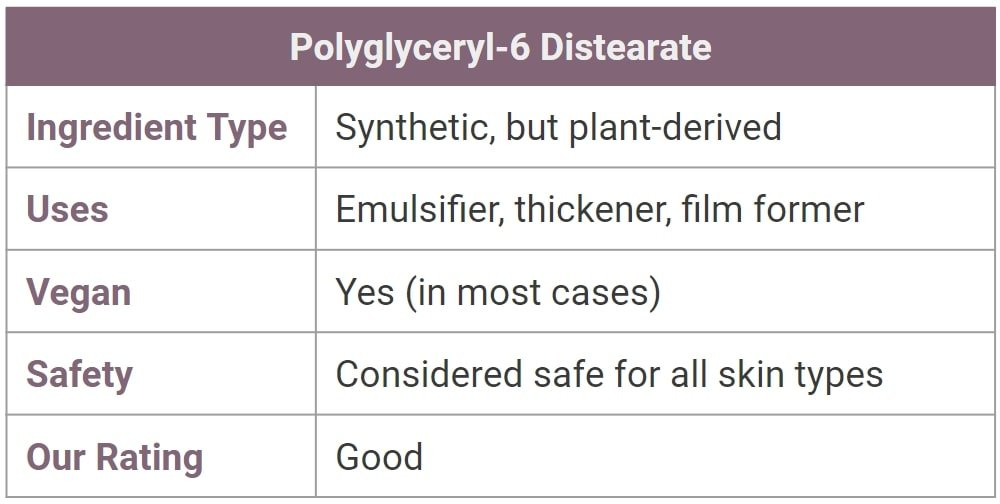 Polyglyceryl-6 Distearate for skin - what is it?