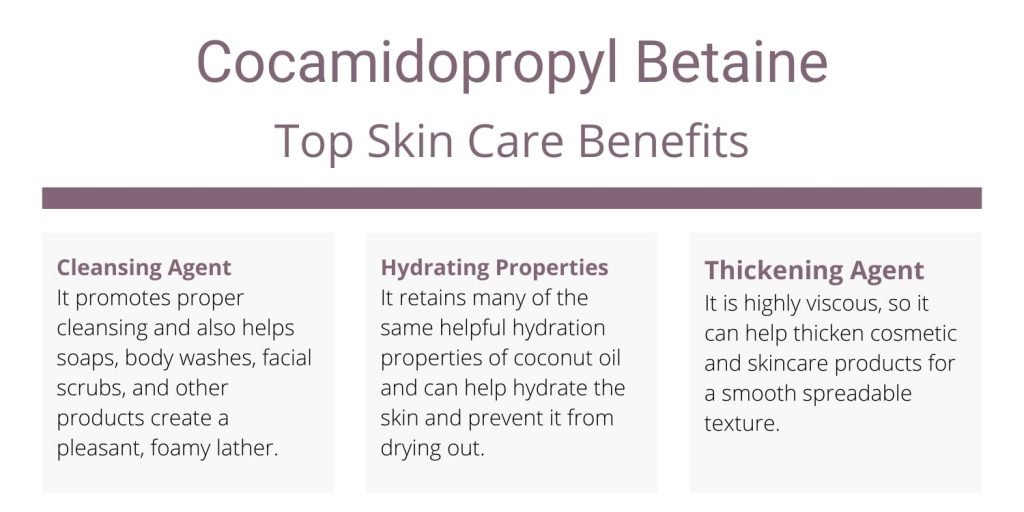 Cocamidopropyl Betaine uses and skin care benefits