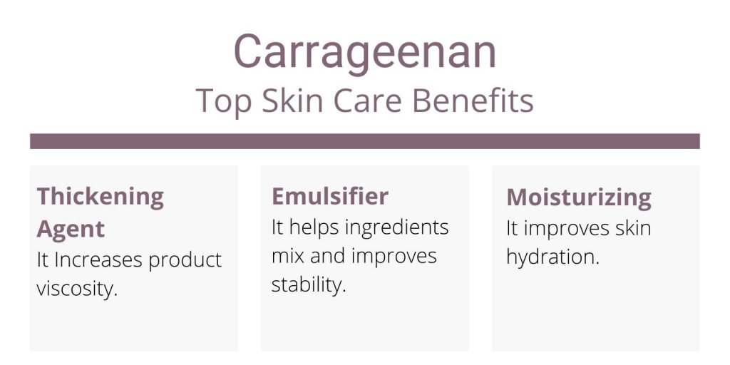 carrageenan benefits for skin