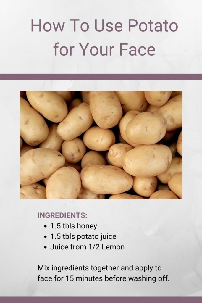 How to use potato on your face