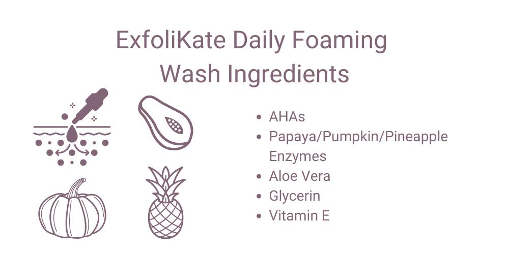 ExfoliKate Daily Foaming Wash Ingredients
