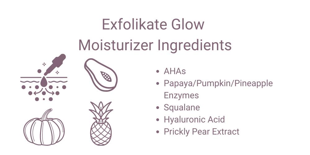 Exfolikate Glow Moisturizer Ingredients