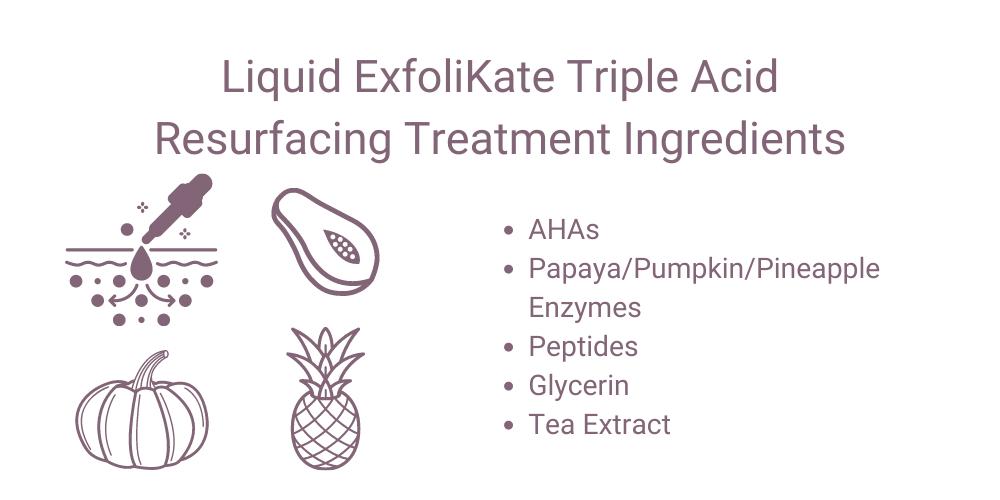 Liquid ExfoliKate Triple Acid Resurfacing Treatment Ingredients