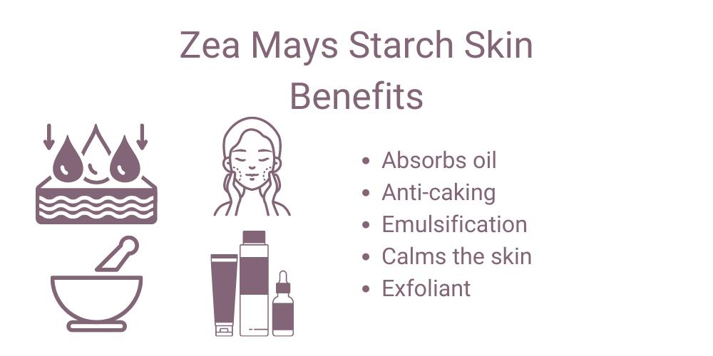 Zea mays starch skin benefits